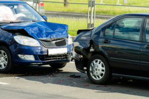 Car crash accident while driving for work
