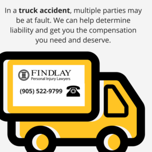 Multiple parties may be liable in a truck accident | Findlay Personal Injury Lawyers