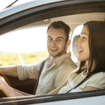 Couple Smiling in Car