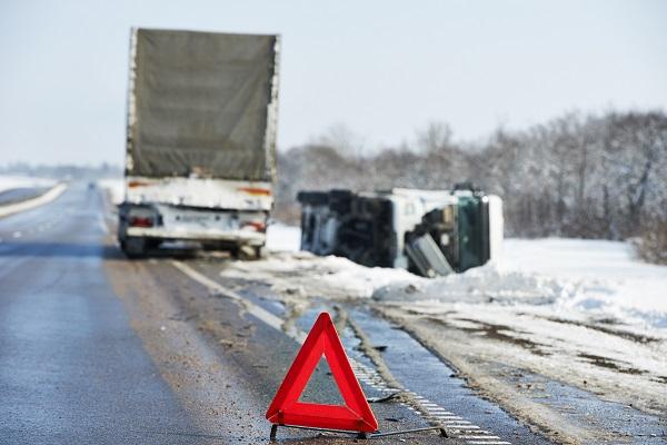 winter truck accident